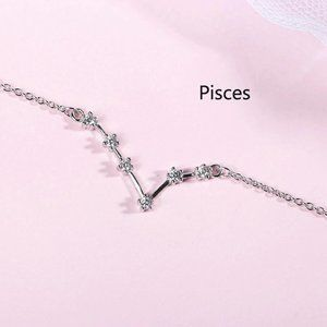 *NEW 925 Sterling Silver Zodiac Bracelet-Pisces